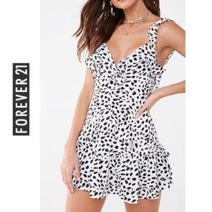 Forever 21 Cheetah Print Mini Dress White/black